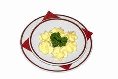 Butter auf einer Platte lizenzfreies stockfoto