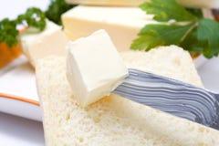 Butter auf Messer Lizenzfreie Stockbilder