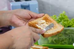 Butter auf Toast lizenzfreie stockfotografie
