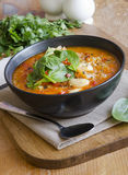 Butter bean and chorizo soup Stock Image