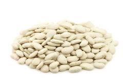 Butter beans (lima beans) in a burlap bag Stock Photography