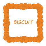 Butter biscuit frame Royalty Free Stock Image