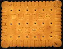 Butter biscuit portrait. Portrait of baking butter biscuit with chocolate Royalty Free Stock Photos