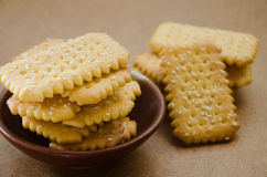 Butter Biscuit with Sesame. Butter biscuit with white sesame for relaxing time on tea break Stock Image