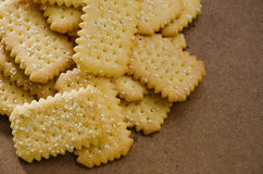 Butter Biscuit with Sesame. Butter biscuit with white sesame for relaxing time on tea break Stock Images