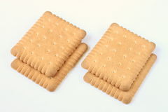 Butter biscuits. Four butter biscuits on a white background Royalty Free Stock Images
