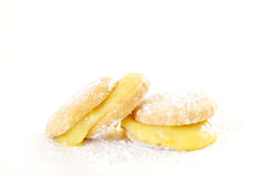 Butter biscuits with lemon curd Royalty Free Stock Photography