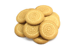 Butter biscuits round shape Royalty Free Stock Photos