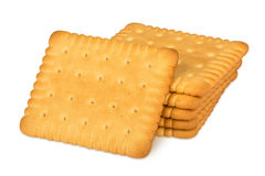 Butter biscuits. Stack of butter biscuits on white background Stock Image
