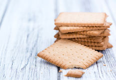 Butter Biscuits on wood Stock Photos