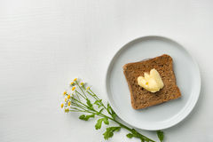 Butter Bread for breakfast Royalty Free Stock Images