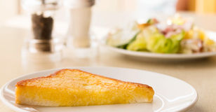 Butter bread for breakfast Royalty Free Stock Photo