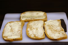 Butter bread Royalty Free Stock Photography