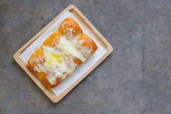 Butter Bread Sprinkled With Sugar Stock Photos