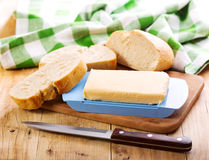 Butter with bread Stock Images