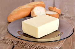 Butter and bread Royalty Free Stock Photos
