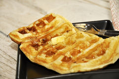 Butter Breakfast Set Waffle Dish Royalty Free Stock Photo