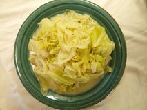 Butter cabbage stir-fry Stock Photo