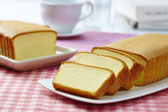 Butter cake. Still light Butter cake on the table Royalty Free Stock Photos