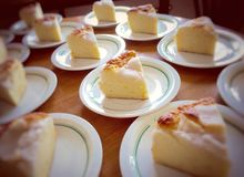 Butter cake with coconut topping Royalty Free Stock Photography