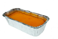 Butter cake topping with jelly orange Royalty Free Stock Photography
