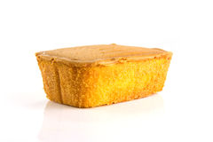 Butter cake. On white background Stock Photo