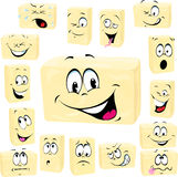 Butter cartoon butter cartoon Royalty Free Stock Photo