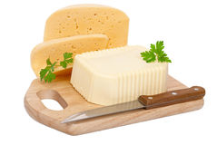 Butter and cheese Royalty Free Stock Photos