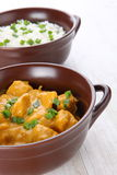 Butter chicken curry with basmati rice. Royalty Free Stock Photography