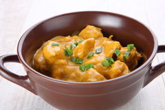 Butter chicken curry Royalty Free Stock Photos