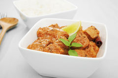 Butter Chicken Curry with Rice Royalty Free Stock Images