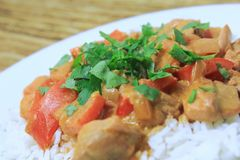 Butter chicken 2 Royalty Free Stock Photography