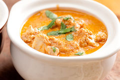 Butter chicken and naan Royalty Free Stock Images