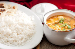Butter chicken and naan Royalty Free Stock Photos