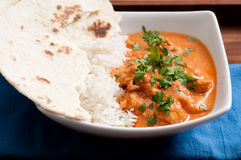 Butter chicken and naan Royalty Free Stock Photography