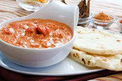 Butter Chicken - Punjabi Style Stock Photo