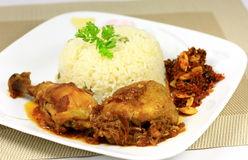 Butter chicken rice Stock Images