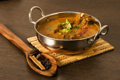 Butter Chicken with Spices Stock Images