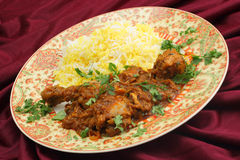 Butter chicken tilted Royalty Free Stock Photography