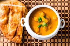 Butter chicken top view Royalty Free Stock Photo