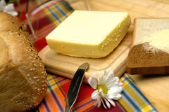 Butter closeup royalty free stock photos