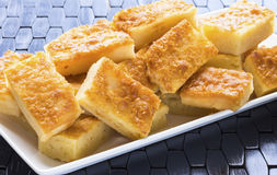 Butter Coconut Mochi royalty free stock photo