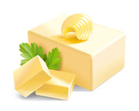 Butter illustration Royalty Free Stock Photo