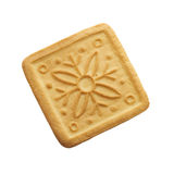 Butter cookie. One butter cookie isolated on a white background Stock Photos