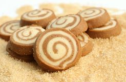 Butter cookie. Are on brown sugar Royalty Free Stock Image