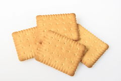 Butter cookies. Four butter cookies on a white background Stock Image