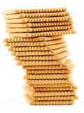 Butter cookies. Tower of Butter cookies closeup  on white background Royalty Free Stock Images