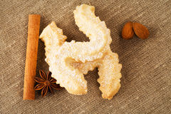 Butter cookies with anise and cinnamon Royalty Free Stock Photography