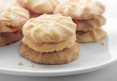 Butter cookies. Royalty Free Stock Photo