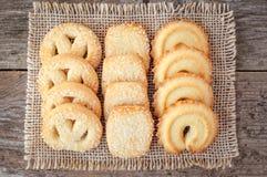 Butter cookies closeup Royalty Free Stock Photos